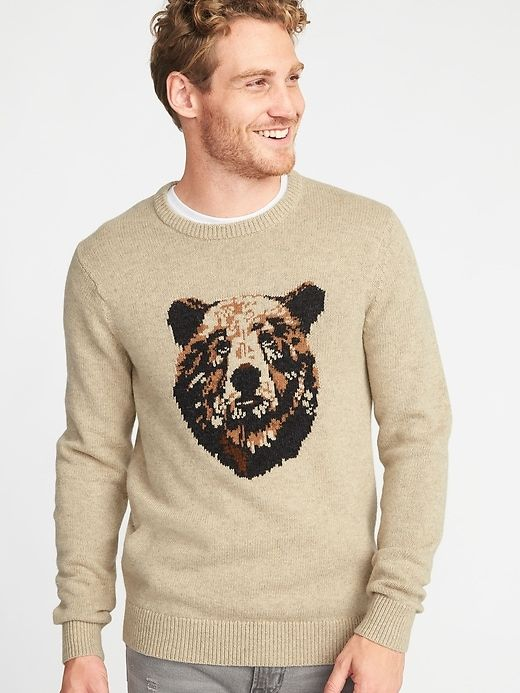 5ff9de17af9 Graphic Crew-Neck Sweater For Men in 2019 | Products | Men sweater ...