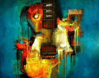 Original pintura personalizada - arte abstracto moderno por SLAZO - 48 x 48 - hecho por encargo