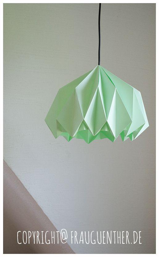 Fabulous DIY Origami Papierlampe ° Origami Paper Lamp ° Lampe aus Papier DT36