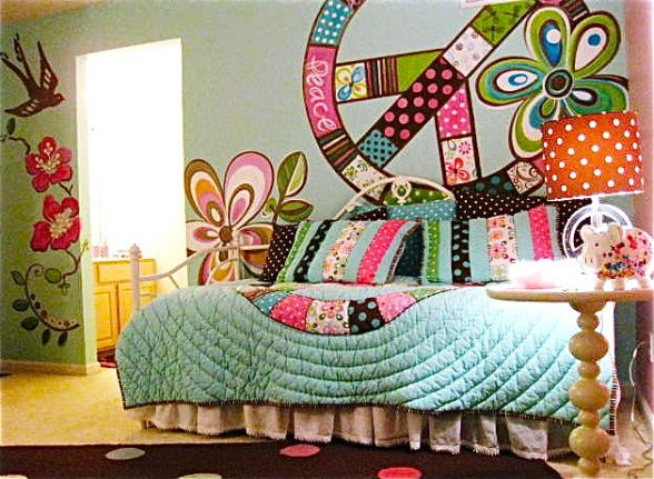 like peace sign | kids rooms | Teen girl rooms, Girls room design ...