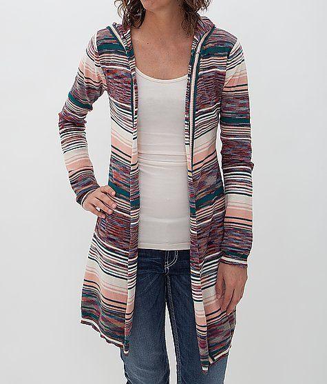 BKE Striped Hooded Cardigan Sweater - Women's Cardigans | Buckle ...