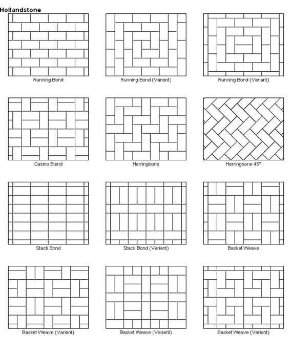 Paver Patio Designs These Would Also Make Great Quilt Layout Too Keep In Mind That We Ll Have To Cut Angles So Choose One Where They Will Only