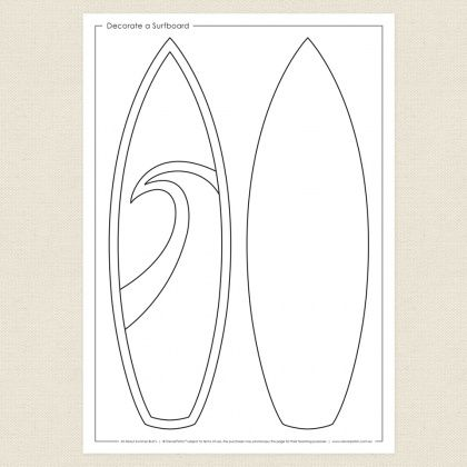Decorate A Surfboard Cleverpatch Surfboard Art Free Printable Coloring Knitting Girls