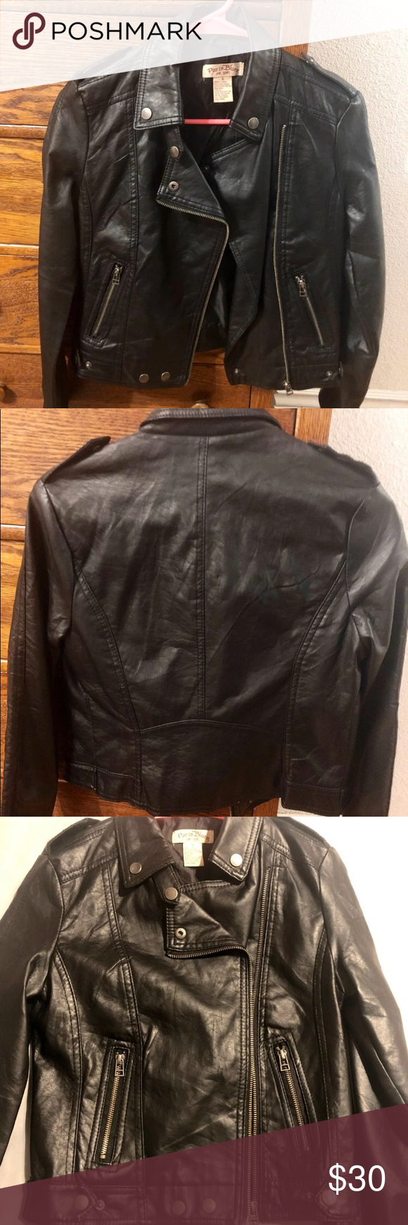 Faux Leather Jacket Paris Blues Faux Leather Jacket Like New Worn A Handful Of Times Juniors Size Small Smoke F Faux Leather Jackets Leather Jacket Jackets [ 1740 x 580 Pixel ]