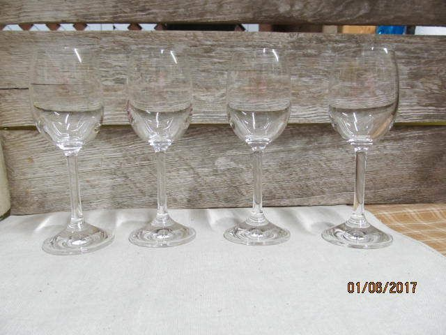 """Set of 4 Vintage Antique Crystal Cordial Liquor Glasses Brandy Plain Brilliant Glasses 5 1/2"""" tall by EvenTheKitchenSinkOH on Etsy"""