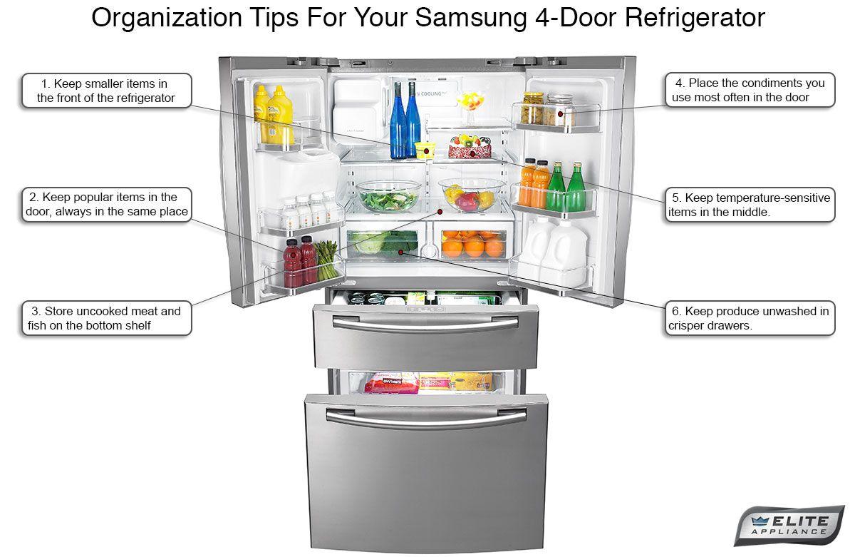 Organization Tips For Four Door French Door Refrigerators Fridge French Door 4 Door Refrigerator Samsung Fridge French Door