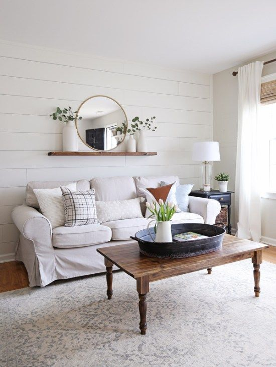 Modern Rustic Living Room Makeover Simple Living Room