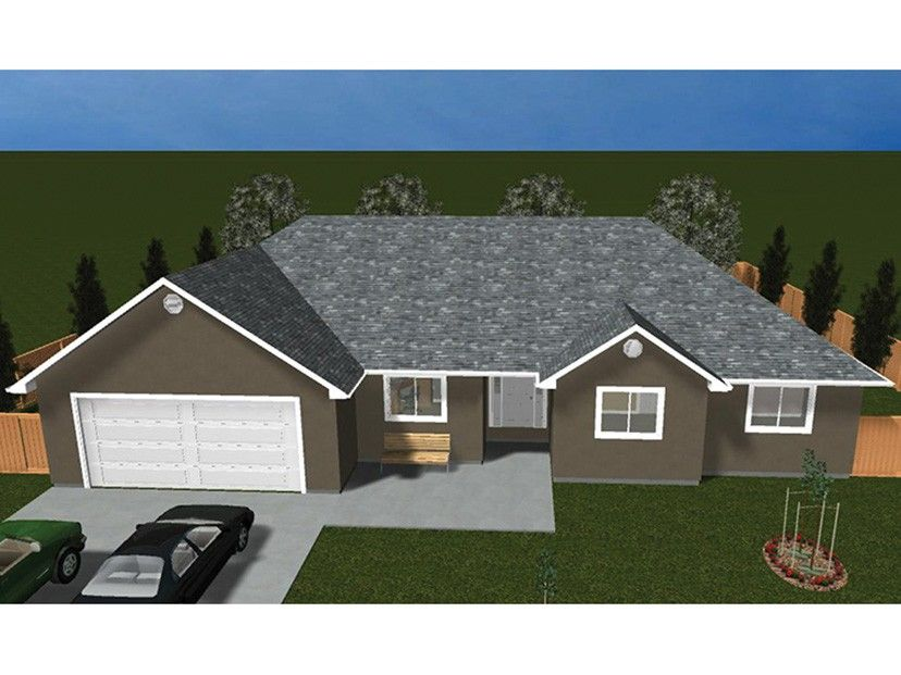 Ranch Home Plan with 3565 Square Feet