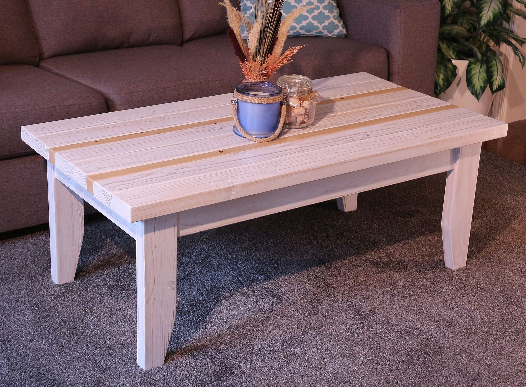 Beach House Decor This Unique Tabletop Features Solid Planks Of