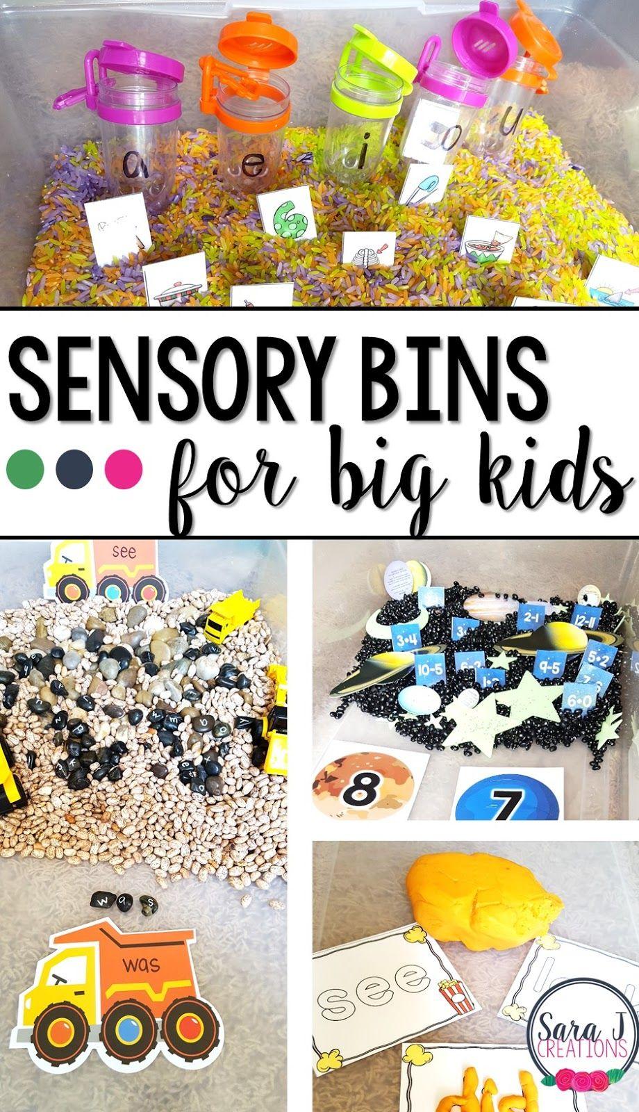 Sensory Bin for Bigger Kids