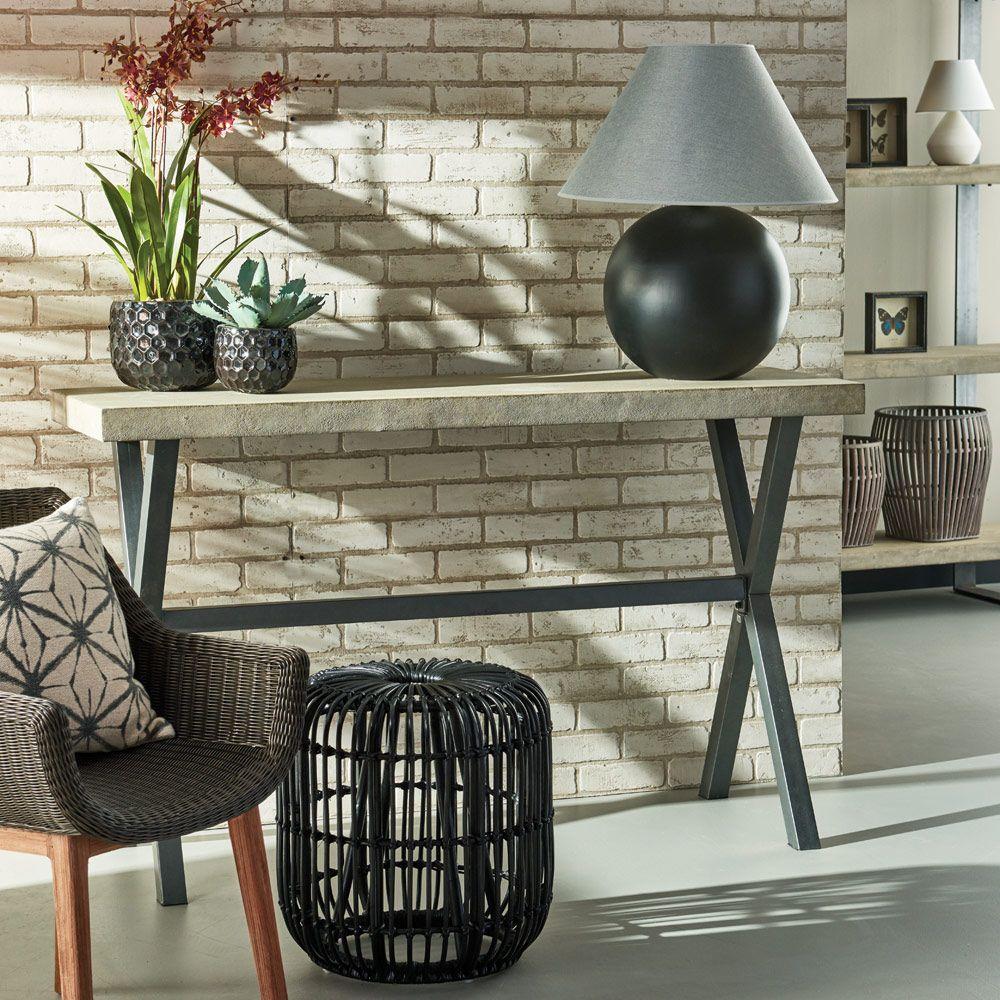 Grayson Console Table, Lightweight Concrete & Iron Home