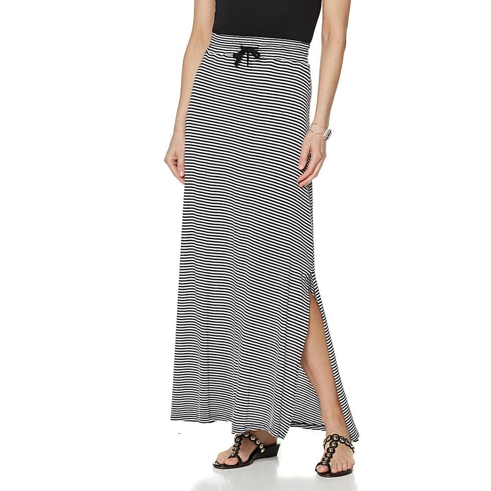 845cca1238 Wendy Williams Striped Maxi Skirt - Black | Products | Striped maxi ...