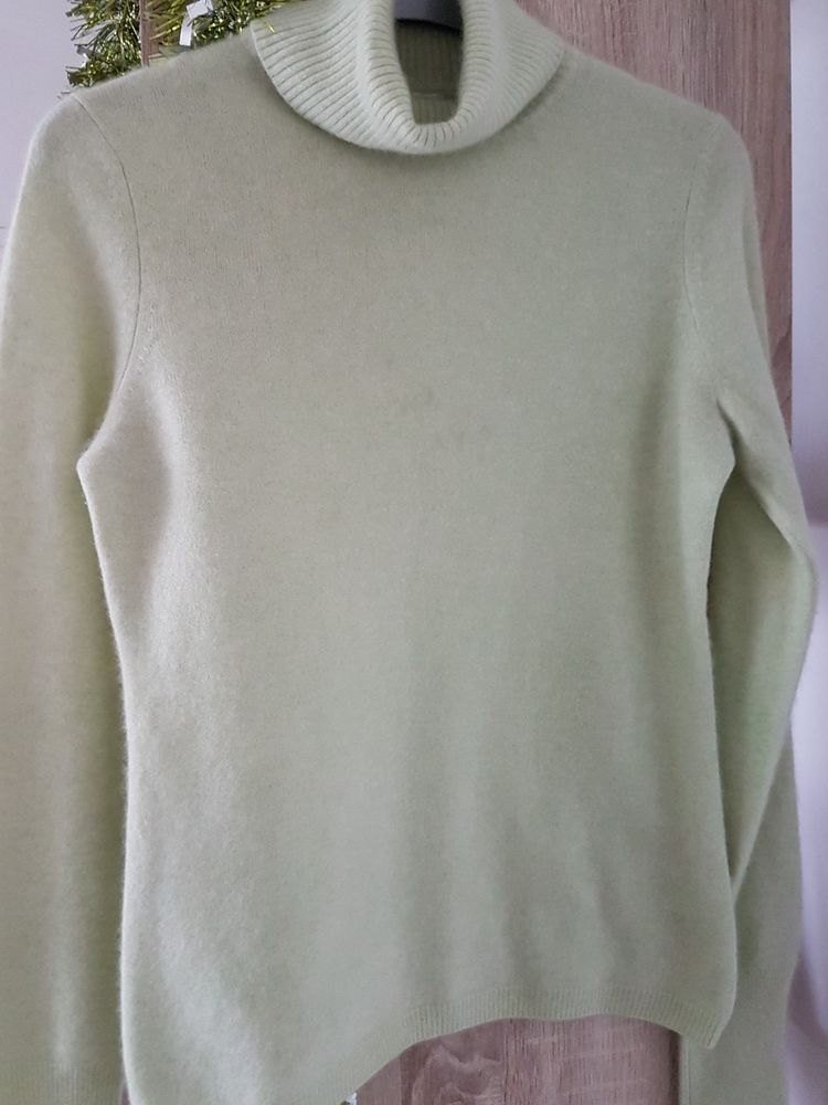 934843d7b4a LADIES UNIQLO 100% CASHMERE POLO NECK JUMPER PALE GREEN SIZE MEDIUM WITH  MARKS  fashion  clothing  shoes  accessories  womensclothing  sweaters  (ebay link)