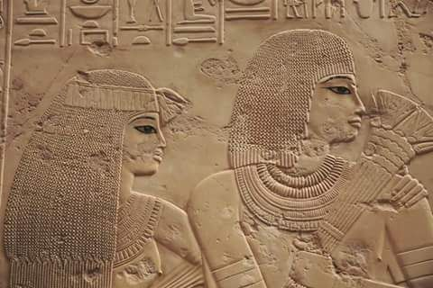 Detail from a relief in the tomb of Ramos 18th dynasty _ Amarna period New kingdom