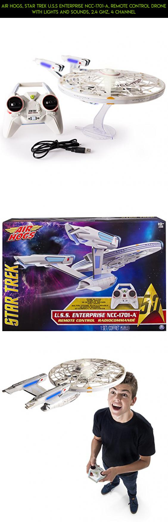 Air Hogs, Star Trek U.S.S Enterprise NCC-1701-A, Remote Control Drone with Lights and Sounds, 2.4 GHZ, 4 Channel #shopping #camera #plans #products #parts #enterprise #gadgets #fpv #tech #technology #ncc-1701-a #drone #hogs #kit #racing #air