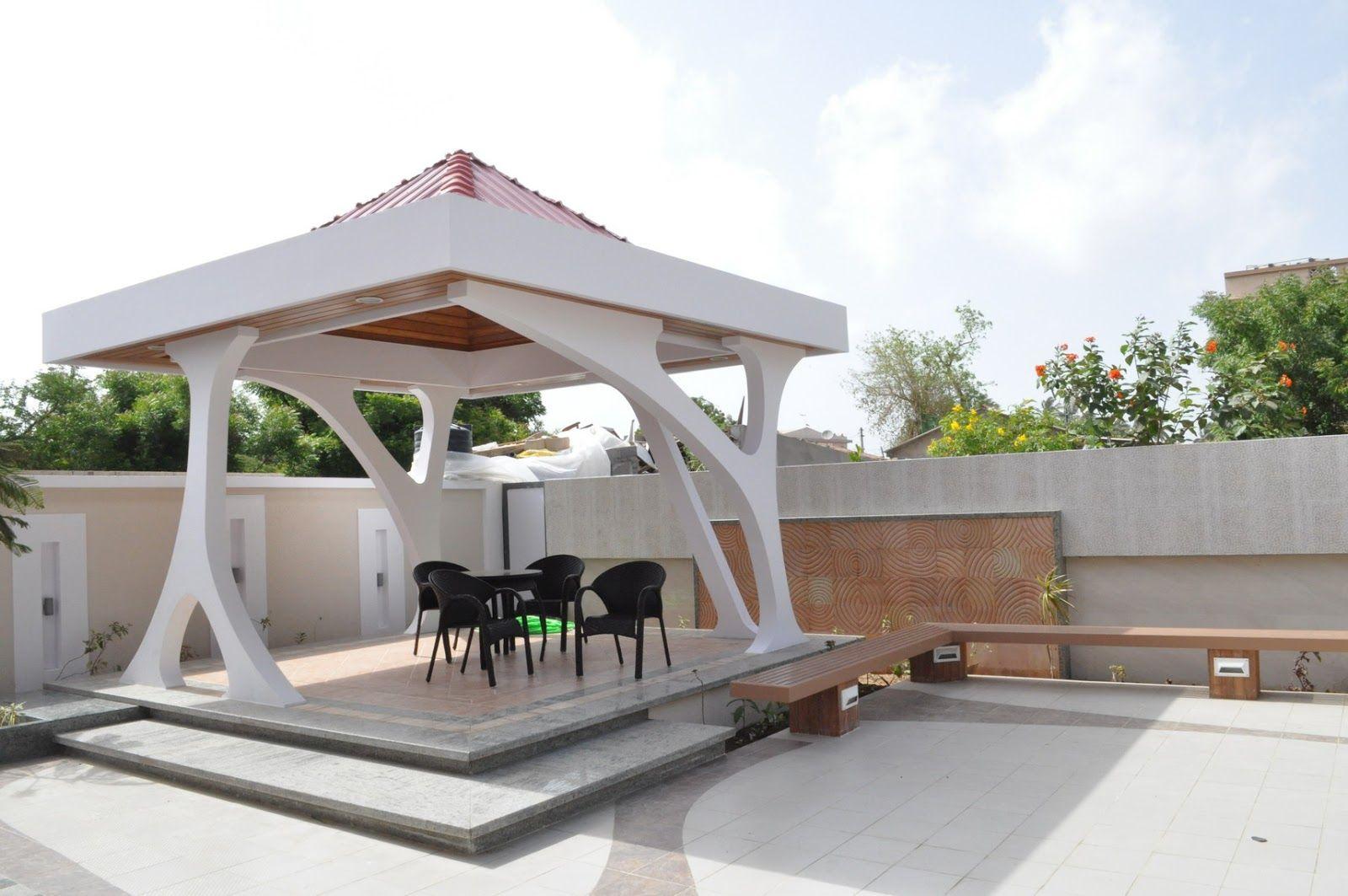60 Desain Gazebo Minimalis Bambu Dan Kayu Desainrumahnya Com Modern Gazebo Gazebo Patio Gazebo Modern garden gazebo designs