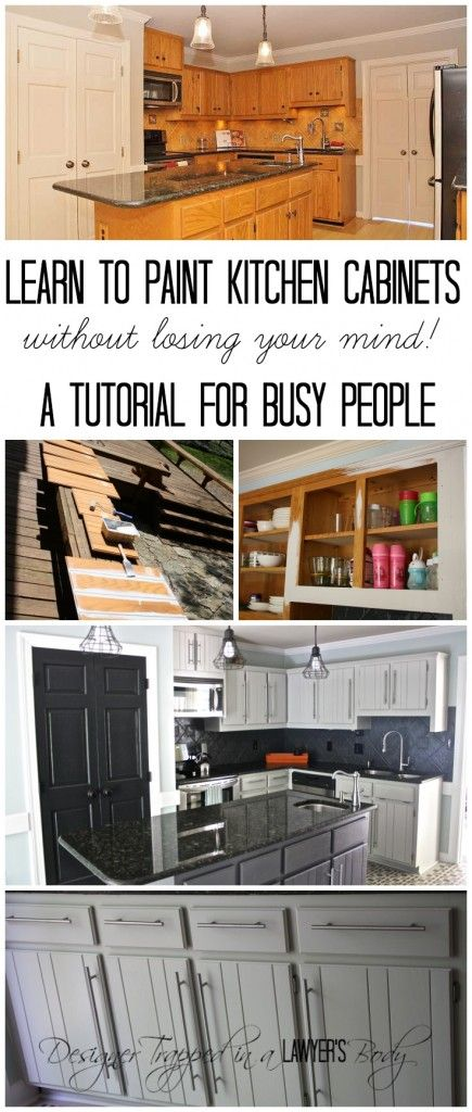 How To Paint Kitchen Cabinets Without Sanding Or Priming Step By Step Painting Kitchen Cabinets Diy Kitchen Painting Cabinets