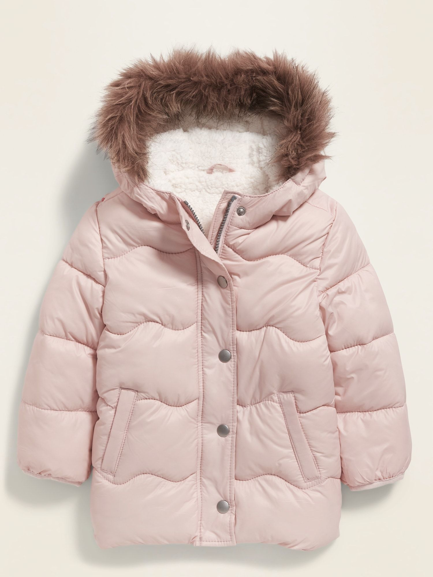 Old Navy Unisex Faux Fur Trim Hooded Frost Free Puffer Jacket For Toddler Soft Shell Size 2 Winter Baby Clothes Toddler Winter Jackets Toddler Girl Jackets [ 2000 x 1500 Pixel ]