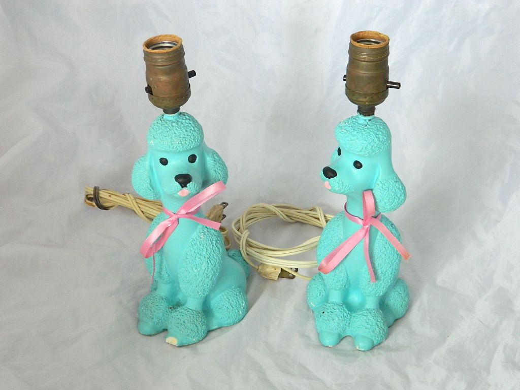 French poodle table lamp pink aqua turquoise vtg retro 50s mid french poodle table lamp pink aqua turquoise vtg retro 50s mid century shabby geotapseo Images