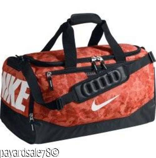8877406e59098 NIKE AIR MAX MEDIUM DUFFLE DUFFEL BAG TRAVEL SPORTS PRINTED NIKE ORANGE  CAMO  Nike