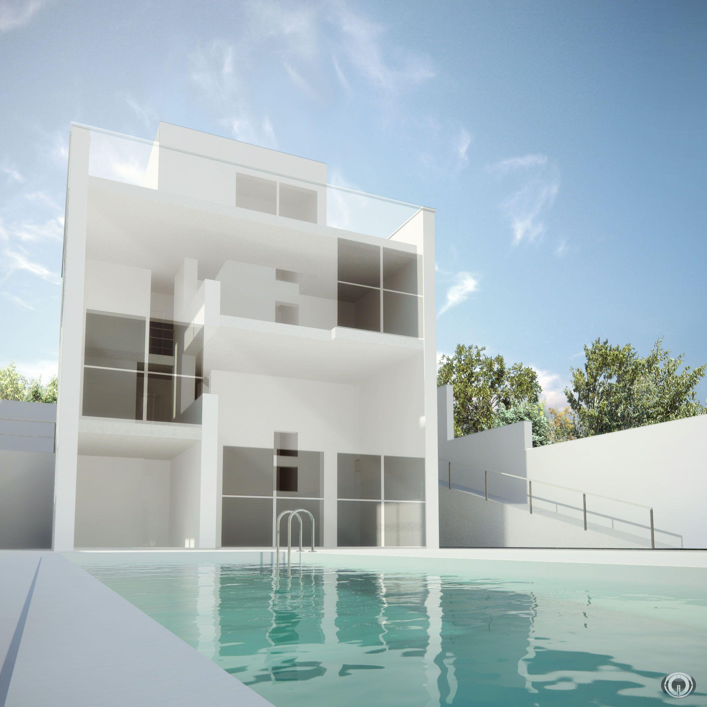 Bim building information modeling casa turegano campo for Maison minimaliste plan