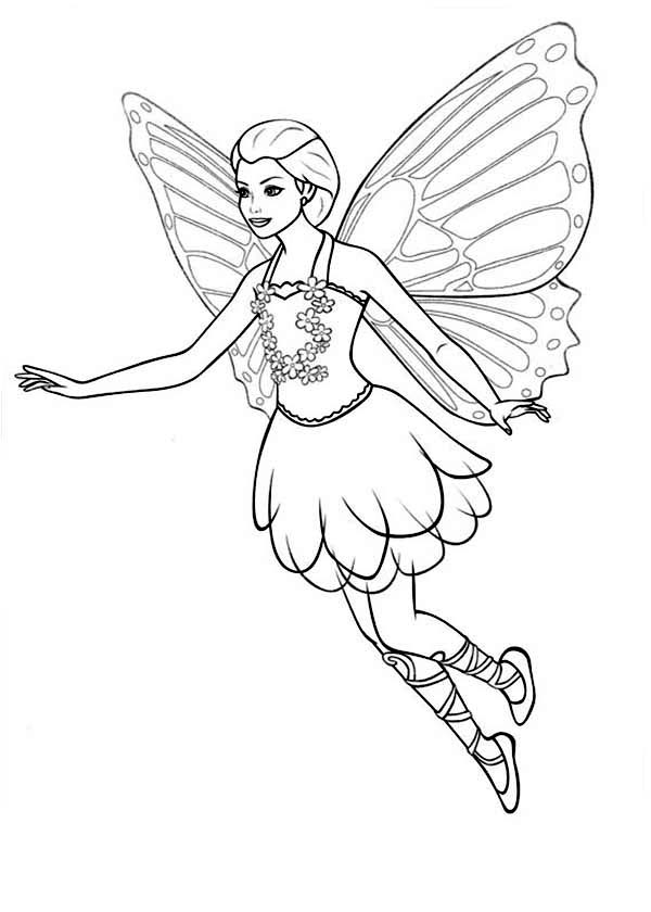 894f4ddd81e8480c30b9595f8729fcac » Coloring Pages For Girls Barbie Mariposa