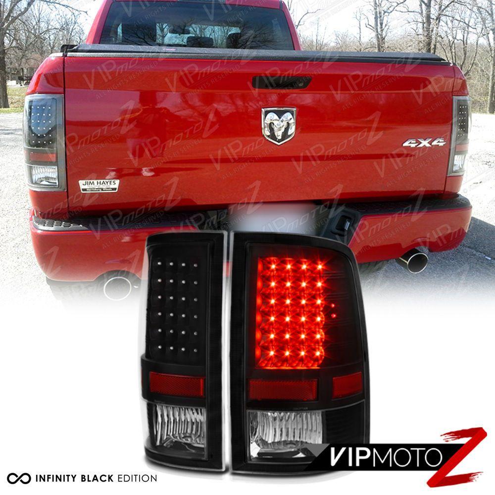 For 09 18 Dodge Ram 1500 2500 3500 Black Clear Led Tail Light Brake Lamp Led Dodge Ram 1500 Ram 1500 Dodge Ram