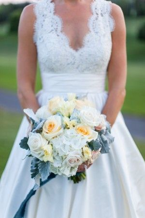 custom lace and silk dupioni gown by New York Bride and Groom