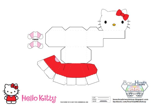 Image detail for -pictures of paper toy papertoy hello kitty.