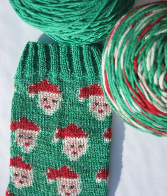 Pre-order - Hand Painted self patterning Christmas sock yarn kit ...