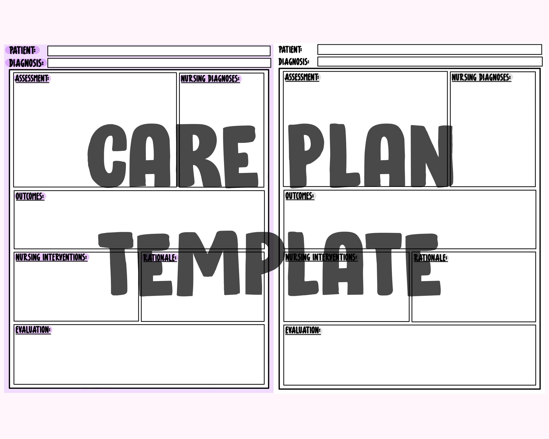 Care plan template nursing template nursing notes clinical