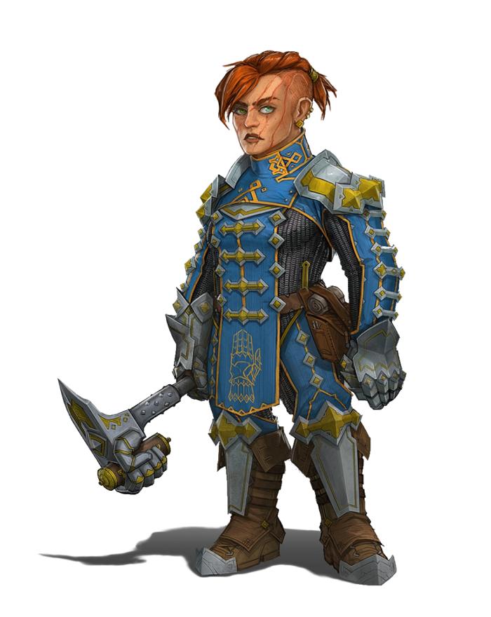 Female Dwarf Fighter or Warpriest - Pathfinder PFRPG DND D&D