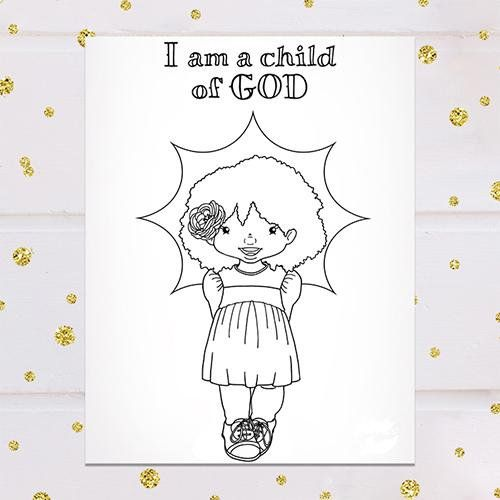 I Am a Child of God Coloring Page - Sunbeam Girl ...