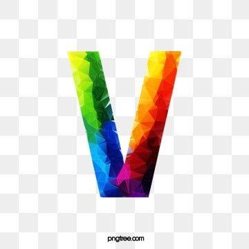 Letras De Colores V, Carta, V, Colorido Archivo PNG y PSD para descargar gratis