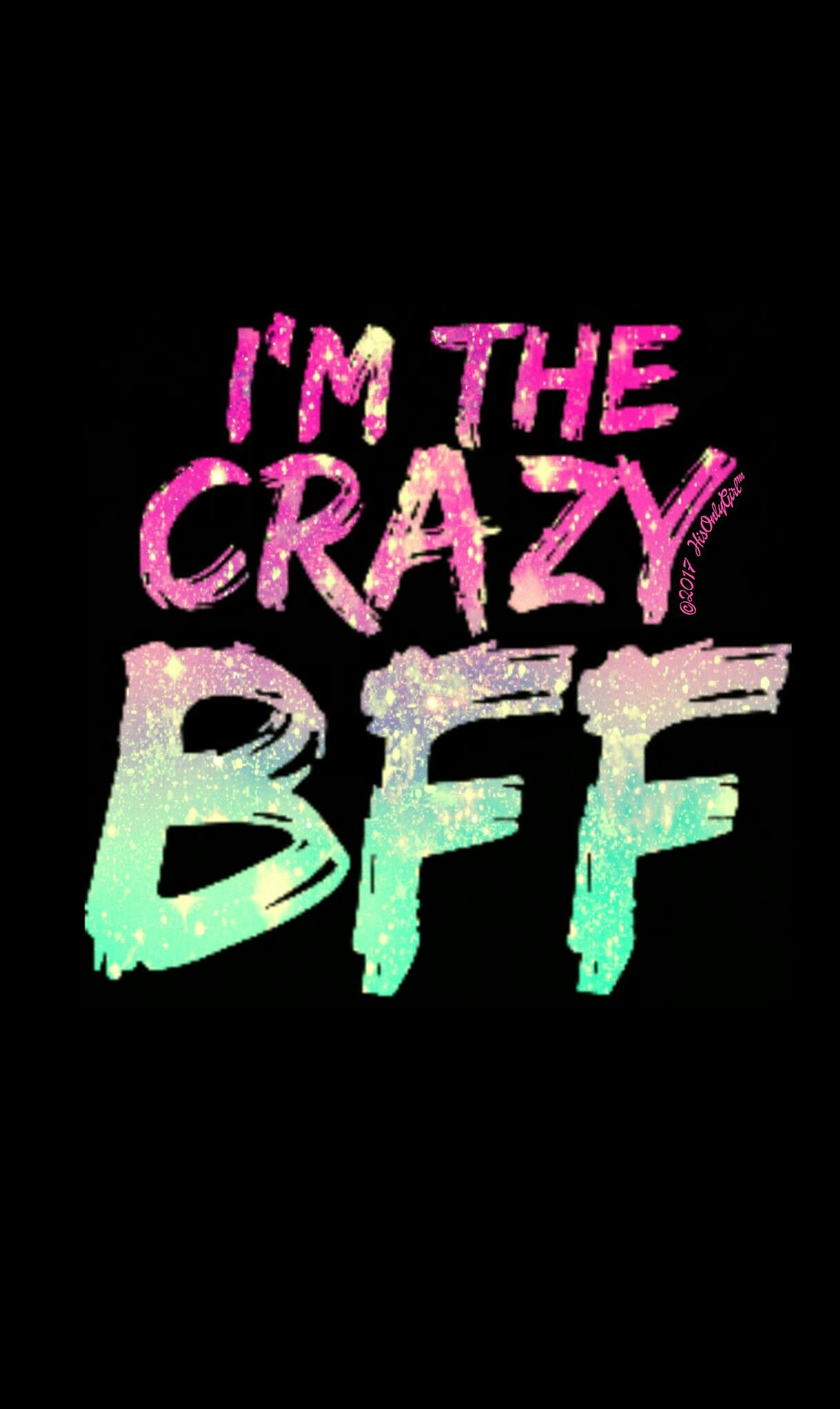 Crazy BFF galaxy wallpaper I created for the app CocoPPa