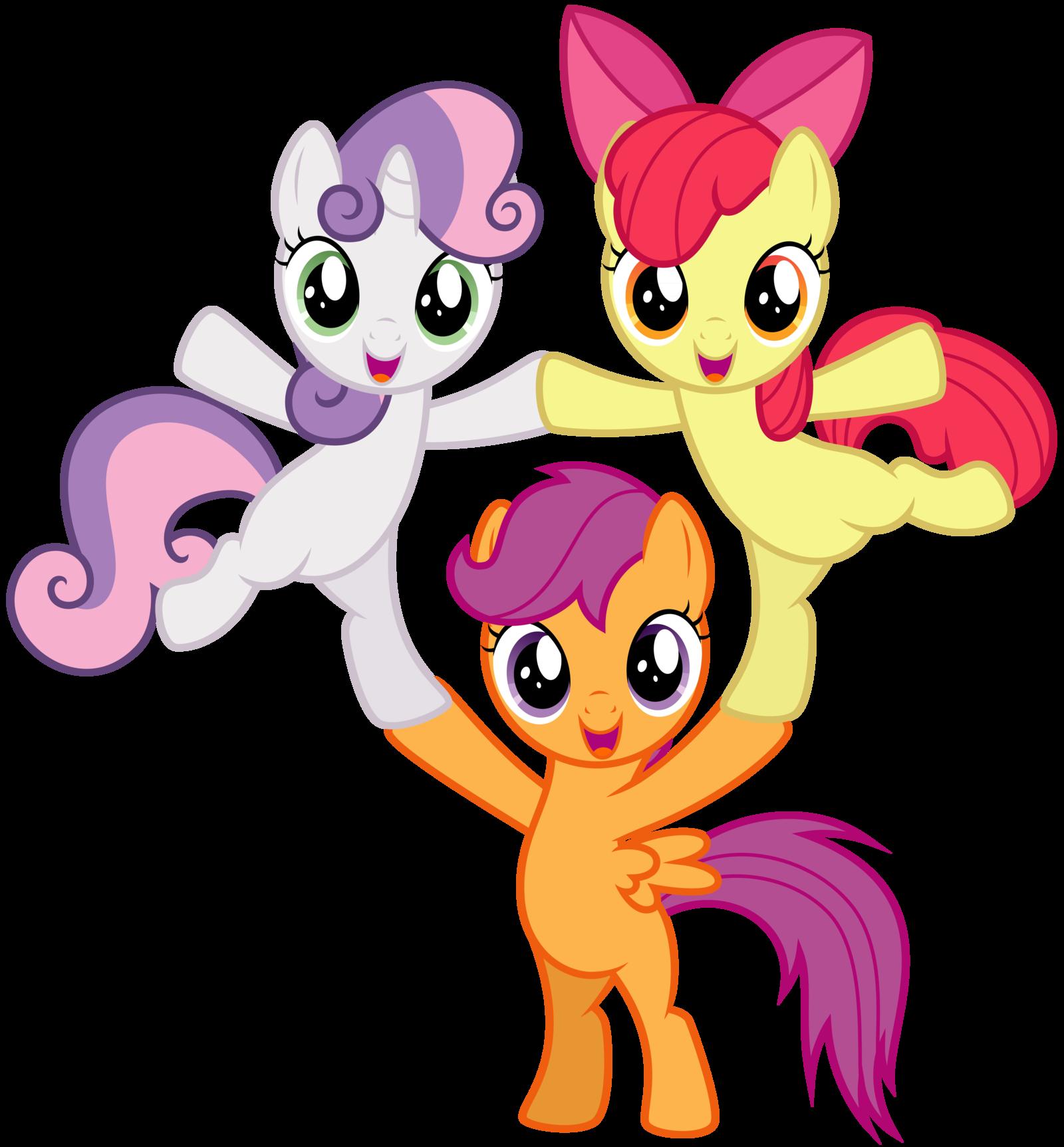 Картинка трех пони