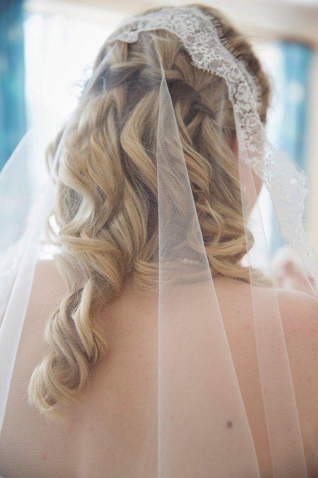 Waterfall Braid Mantilla Veil My Wedding Pics Wedding