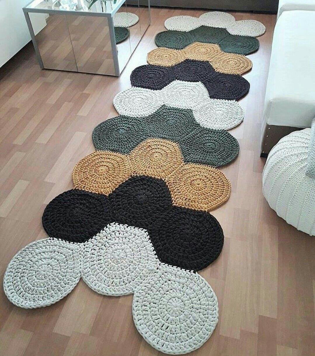 Pin von Maria Nina Estrada auf alfombras ganchillo | Pinterest ...