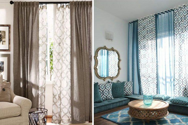Tendencias en decoración con cortinas casita Pinterest