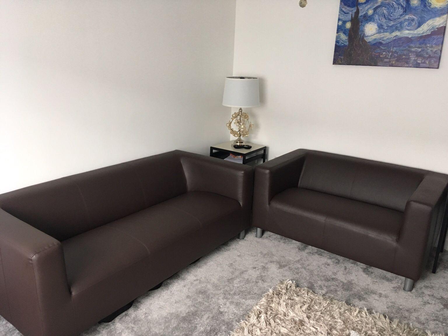 Argos Home Moda 3 Seater Faux Leather Sofa Grey Di 2020