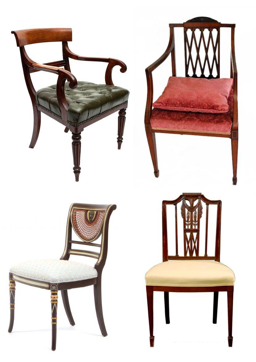 Sillas estilo imperio unidad 1 el romanticismo muebles muebles de estilo y estilo ingl s - Sillas estilo ingles ...