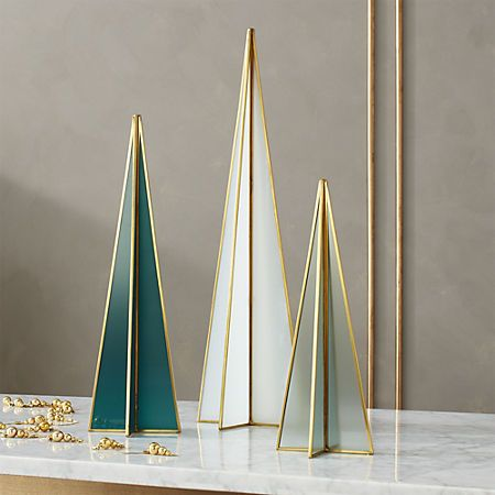 Flash Milk Glass Mint Tree Small + Reviews | CB2