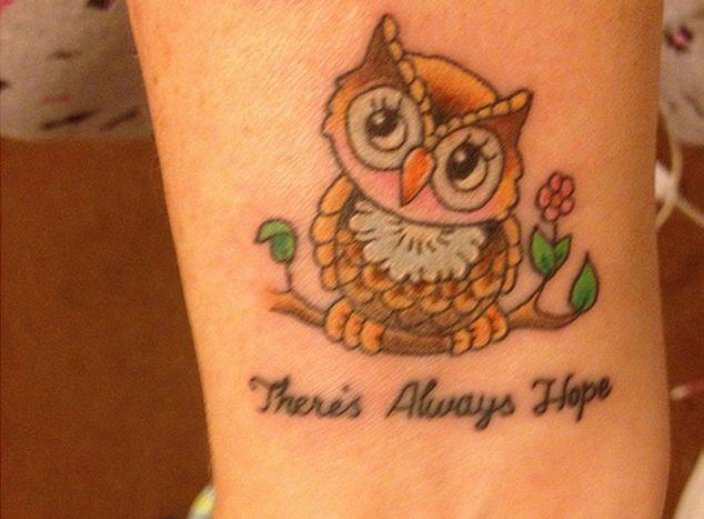 Owl Wrist Tattoo | Tattoos | Pinterest | Wrist tattoo, Owl ...