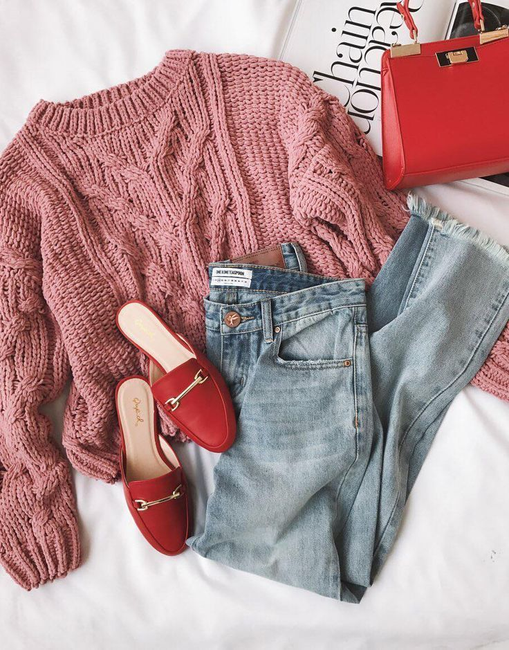Beth Pink Cable Knit Sweater