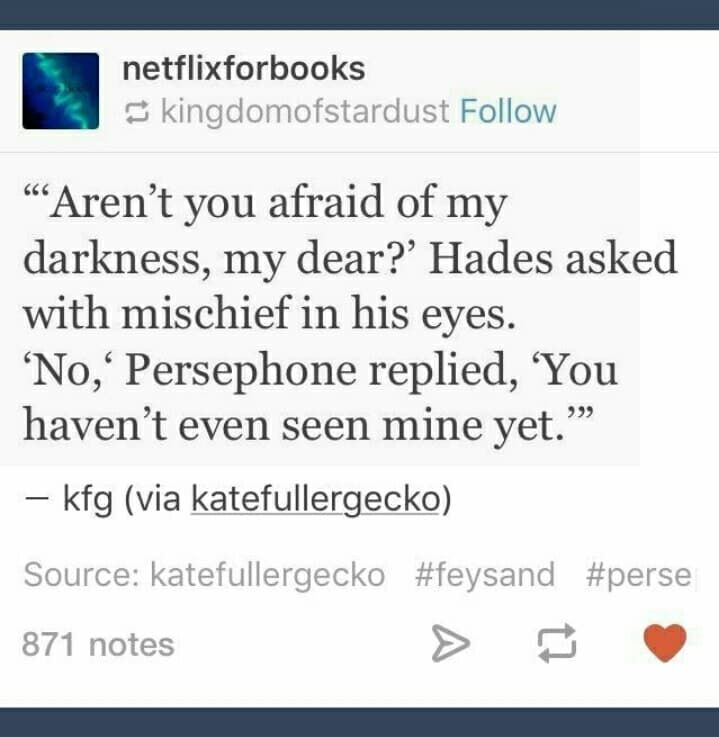 Fun fact: Persephone was more widely feared than Hades in ancient Greece