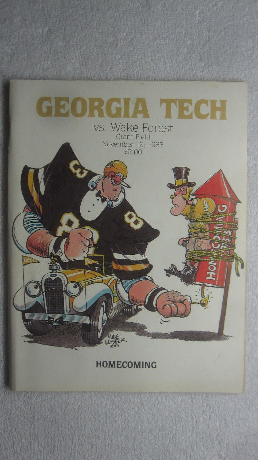 1983 Tech Football Program The Wake Forest Game