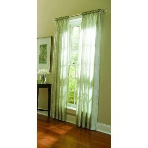 Martha Stewart Living Tadpole Sheer Damask Curtain 84 In