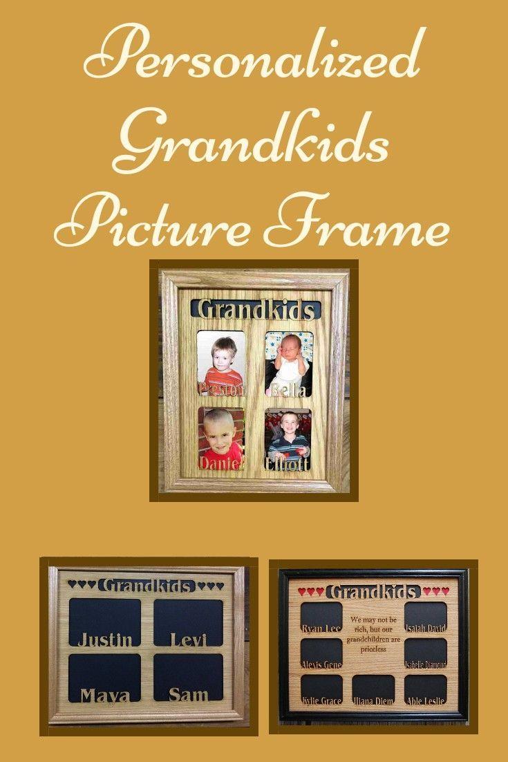 11x14 Grandkids Name Picture Frame, Grandchildren Frame, Gift for ...