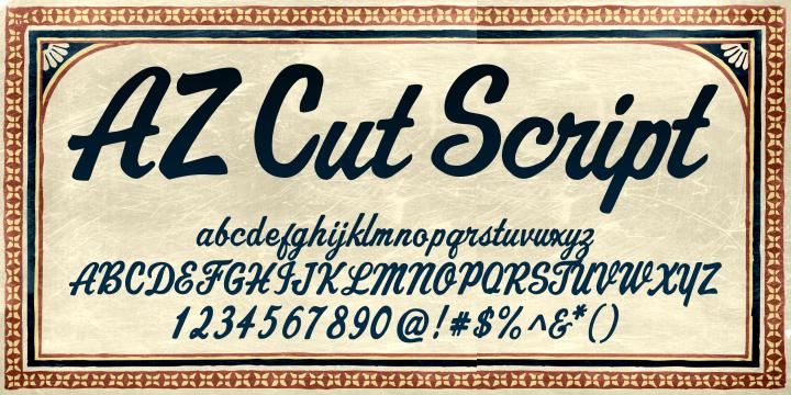 AZ Cut Script Font $25.00