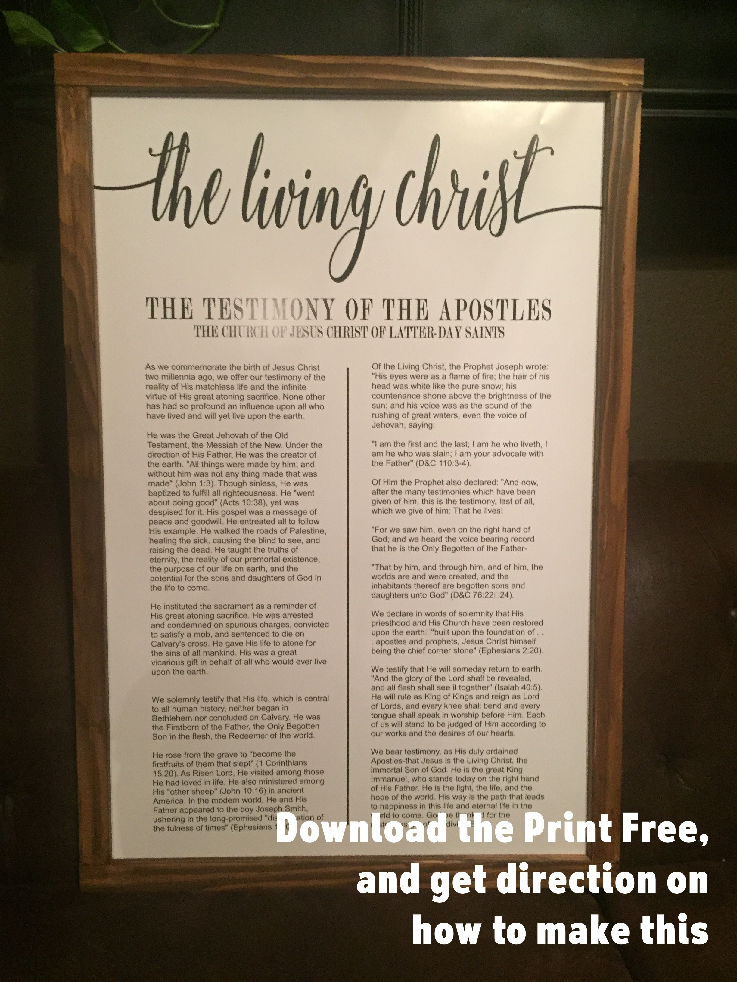 graphic relating to The Living Christ Free Printable identify Cost-free Printable! Residing Christ, Relatives Proclamation or